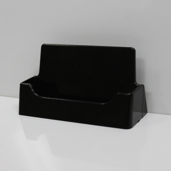 50 Black Plastic Desk Countertop Business Card Holders